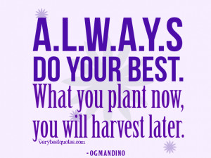 Always do your best quotes, Og Mandino quotes