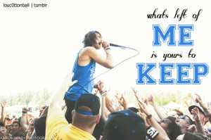 Blessthefall Quotes | whats left of me on Tumblr