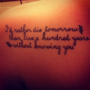 pocahontas quote;; I'd rather die tomorrow than live a hundred years ...