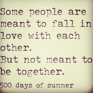 harsh reality from 500 Days of Summer