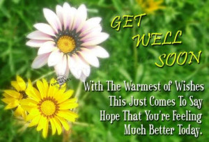 Get Well Soon With The Warmest Of Wishes This Just Comes To Say Hope ...