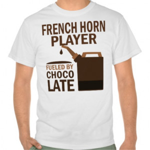 French Horn Player (Funny) Chocolate Tshirt