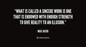 What is called a sincere work is one that is endowed with enough ...