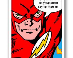 Superhero Print, Flash Print, Bathroom Rules, Kids Room Decor,