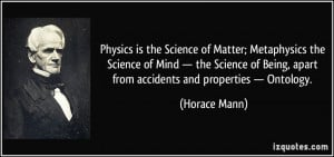 the Science of Matter; Metaphysics the Science of Mind — the Science ...