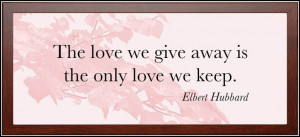 Image of Framed Love Quote