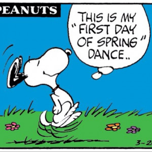 First day of spring dance.