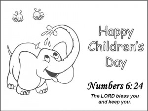 Children Day Bible Quotes Coloring Pages Card