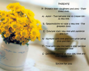the-picture-of-yellow-flowers-with-quote-about-parents-love-quotes ...