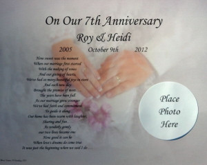 OUR 1ST ANNIVERSARY GIFT PERSONALIZED POEM 2nd, 3rd, 4th, 5th, 10th ...