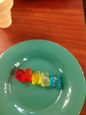 Gummy bear line up