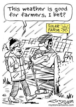 Solar Energy Eco Cartoon