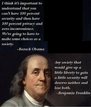 ... , our current chief or Benjamin Franklin. READ both of these quotes