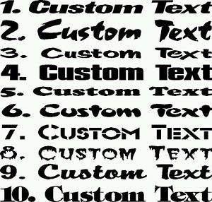 ... -Text-Name-Quote-Vinyl-Car-Letter-Auto-Truck-Personal-Decal-Sticker