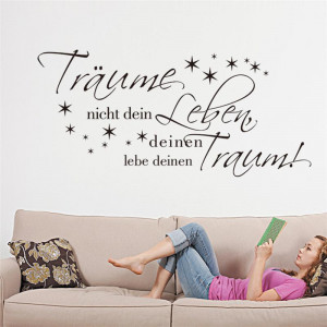 german-donot-dream-your-life-quotes-wall-stickers-bedroom-decoration ...