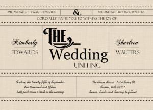 Western Love Gay Wedding Invitation