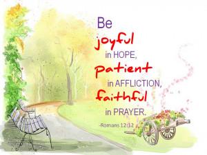 Joyful Hope Patient Affliction