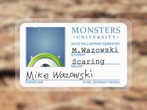 Mike Wazowski Monsters University ID
