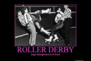 Roller derby - Final roller is on track