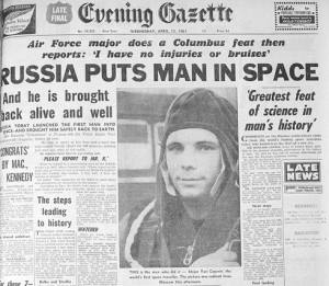 53 years ago today (April 12), Yuri Gagarin, a Soviet pilot and ...