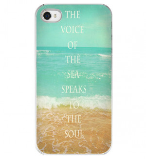 Iphone Case - Beach Quote Aqua Ocean Beachy Summer Iphone 4 4s Cover