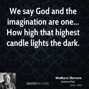 Wallace Stevens Imagination Quotes