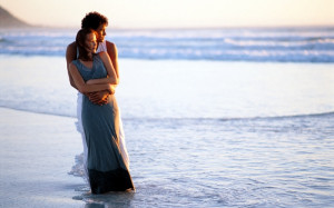 romantic-couple-hug-sea-shore-romance-attachment-passion-love ...