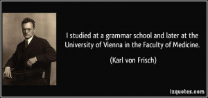 studied at a grammar school and later at the University of Vienna in ...