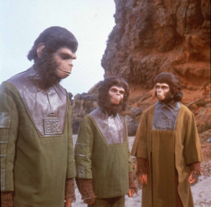 Still of Kim Hunter and Roddy McDowall in Planet of the Apes (1968)