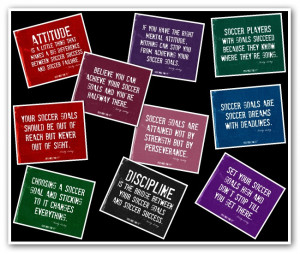 Soccer Quotes Collage in Black