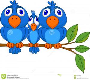 Big Cartoon Tree Bird and big bird cartoon