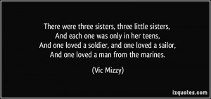 There were three sisters, three little sisters, And each one was only ...