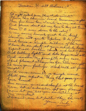 Williams Family Bible - Poem Found Inside Bible Page 1