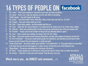 16 types of people on Facebook