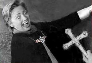 Hillary Clinton Vampire Image