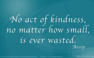 spread kindness around...