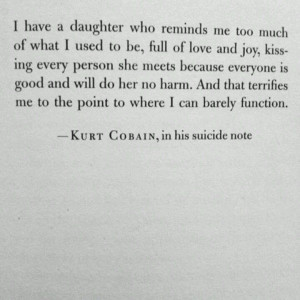 kurt cobain in his suicide letter