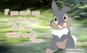 Magical Wisdom from Thumper ~