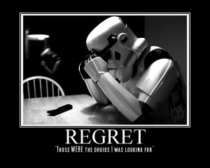 ... that there are usually two ways that regret can surface within men