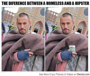 Tags: hipster homeless funny picture apple