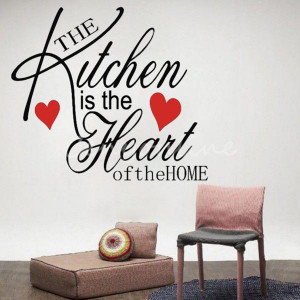Quote-Mural-Words-Art-Vinyl-Wall-Sticker-Home-Kitchen-Room-Decal-Decor ...