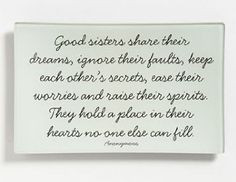 sister with a touching quote from an anonymous writer;