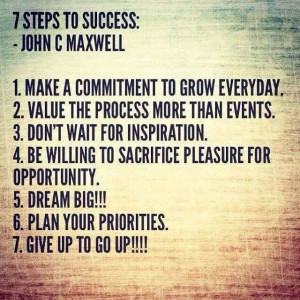steps to success.