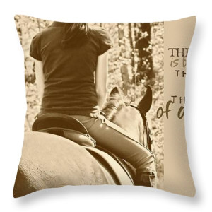 Horse Quotes Throw Pillows - TRAIL RIDE quote Throw Pillow by JAMART ...