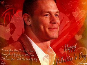 John Cena Quote about Valentine's Day