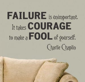 Inspirational Vinyl Wall Lettering Failure is by WallsThatTalk, $13.00