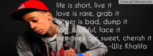 Wiz Khalifa Quote Profile Facebook Covers
