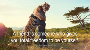 quotes about friendship love friends A friend is someone who gives you ...