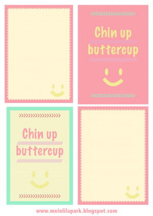 free motivational quote journaling card – chin up – Spruchkarten ...