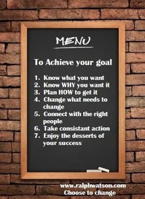 Menu To Achieve Your Goal